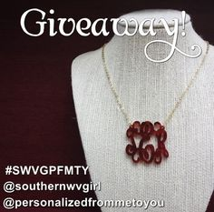 How would you like to win this monogram necklace from @Personalized From Me To You? See my Instagram account for details! {@Ashley Murphy} Good luck! #monogram #monogrameverythinf #giveaway #fallstyle #monogramnecklace #monograms