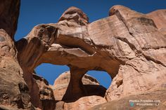 Twin Arch a.k.a Skull Arch at Arches National Park