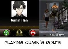 Playing his route now. Jumin as daddy? I can get... - A woman's beauty comes from within