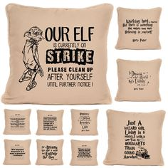 Whether it's a Dumbledore, Hermione, Luna Lovegood, Ron Weasley quote or even a famous line from one of the movies, we're sure to have the item for you! Available as a full cushion with pad or a cushion cover only. Cover Harry Potter, Harry Potter Games, Personalised Sweets, Luxury Cushions, Luna Lovegood, Wooden Hand, Ron Weasley, Christmas Gifts For Kids, Gifts For Girls