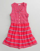 Splendid Littles Chambray Mixed-Stripe Tank Dress