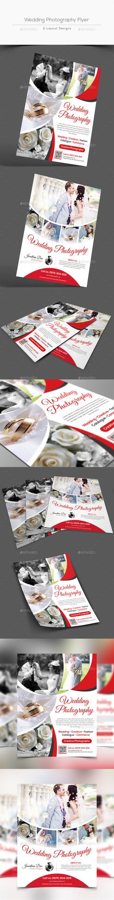 Wedding Photography Flyer — Photoshop PSD #studio #photographer • Available here → https://graphicriver.net/item/wedding-photography-flyer/13433835?ref=pxcr