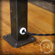 Vintage Industrial American Manufacture Co Milwaukee Adjustable Table Lamp