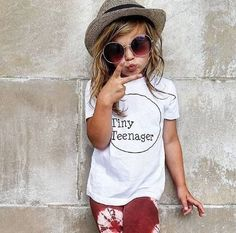 Toddler tee, Tiny Teenager, Threenager, kids shirt, word, childrens shirt, trendy kids clothes, girls clothes, boys clothes, hipster, kids shop, graphic, graphic shirt, graphic t shirt