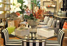 Stripes and #goodreads at #PalmBeach #Mecox #interiordesign #MecoxGardens #furniture #shopping #home #decor #design #room #designidea #vintage #antiques #garden