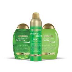 Ogx Shampoo, Hair Shampoo, Shampoo And Conditioner, Tea Tree Mint Shampoo, Vanilla Tea, Extreme Hair Growth, Hair Care Routine, Tea Tree Oil, Hair Health