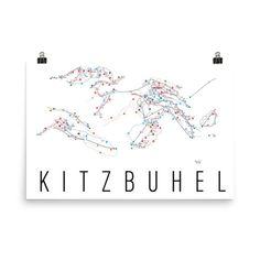 Kitzbuhel Ski Map Art, Kitzbuhel Austria, Kitzbuhel Trail Map, Kitzbuhel Ski Resort Print, Kitzbuhel Poster, Kitzbuhel Art, Kitzbuhel Gift