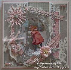 Ellie's Cards - WOW the tiny pink gloves are adorable on this.