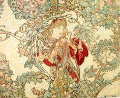 muchofmucha: Alphonse Mucha - Woman with a Daisy