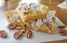 I am giving you fair warning now...once you try these Ooey Gooey Pecan Cheesecake Bars, you won't be able to stop eating these bars of deliciousness!