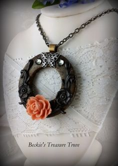Strong as Steel Series / Steampunk Upcycled washer necklace