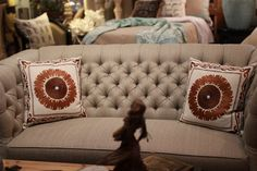 Abode Fine Living | living room couch | light gray | cream | living room accent | Chic | modern living | couch | home accent