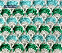 Crochet Textured Stitch Pattern: Diagram + step by step instructions over at MyPicot.