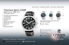 Citizen Titanium Sport Eco-Drive...