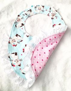 Not Pink Salmon Color Funny Baby Bib