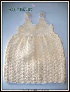 Crochet Baby Dress Items similar to Crochet baby dress on Etsy