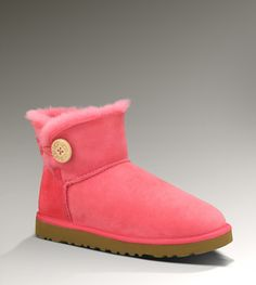 UGG Mini Bailey Button Women's Flamingo Pink Boots