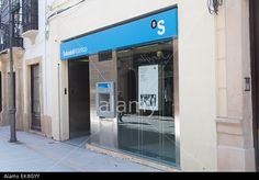 Sabadell's offer for TSB Banking Group plc ('TSB') is now unconditional in all respects, ATM machine at Banco Sabadell bank in Andalusia Spain Stock Photo