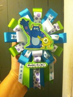 Clearance Monsters Inc baby shower corsage by ModernMumsCollection