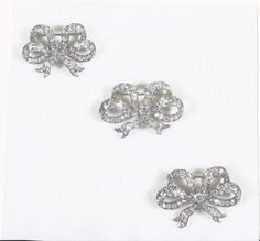 Queen Victoria's Bow brooches. Now property of the Crown and worn by Queen Elizabeth II.