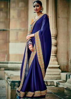 Melodic Peacock Blue #Saree