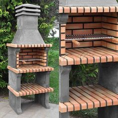 fun professional wooden pallet furniture ideas you can sell 48 ~ IRMA Diy Outdoor Kitchen, Outdoor Oven, Outdoor Decor, Outdoor Barbeque, Barbecue Design, Grill Design, Brick Grill, Grill Area, Pergola
