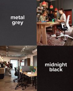 Metal grey or midnight black? Coworking Space, Easy, Conference Room, Meet, Design, Black, Home Decor, Modern Office Spaces, Modern Living
