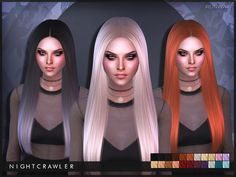 Sims 4 CC's - The Best: Runway Hair by Nightcrawler