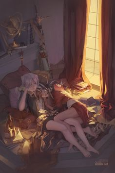 Image uploaded by エト. Find images and videos about art, anime and yuri on We Heart It - the app to get lost in what you love. Anime Girlxgirl, Yuri Anime, Anime Love, Anime Art, Yuri Love, Girls Cuddling, Anime Couples Cuddling, 3d Fantasy, Arte Popular