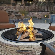 Sun Joe</strong> Cast Stone Wood Burning Fire Pit $179 (free ship/no tax)