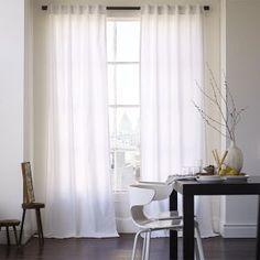 Cotton Canvas Curtain - White #West Elm