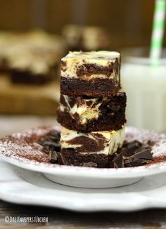 Schokoladenhunger: Cremige White Chocolate Marmor Brownies
