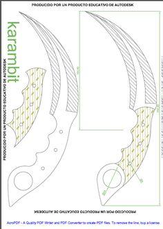Colección de plantillas para hacer cuchillos - Taringa!