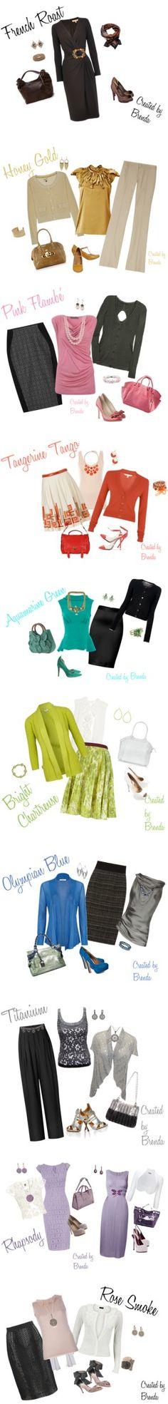 """Pantone Fall 2012 Color Picks"" by brendariley-1 on Polyvore"