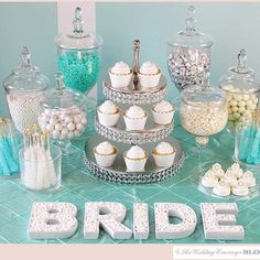 Vibrant Buffet Table Idea for Bridal Shower