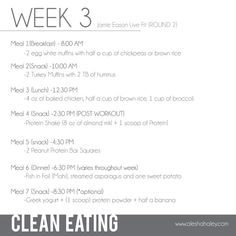 Clean Eating Meal Plan // made with Love - Diet Plan Organic Recipes, Raw Food Recipes, Low Carb Recipes, Lowest Carb Bread Recipe, Low Carb Bread, Clean Eating Meal Plan, Clean Eating Recipes, Jamie Eason Live Fit, Turkey Muffins
