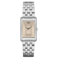 1018a0726ea Classic Watch Featuring a mother-of-pearl rectangle dial accentuated by a  gold-. Armani WatchesEmporio ...