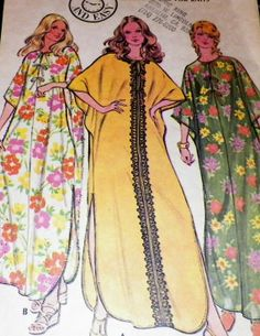 Sewing Pattern Dress Vintage Caftan  70s by hookandneedlepattern, $6.00