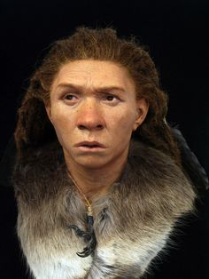 Neanderthal woman at the Reconstruction Exhibition. Brighton & Hove) Neanderthal woman at the Reconstruction Exhibition. Forensic Artist, Viking Images, Cro Magnon, Early Humans, Brighton And Hove, Stonehenge, Before Us, Ancient History, Uk History