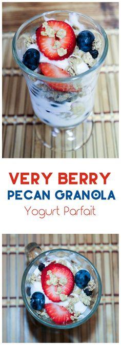 ... blueberry yogurt parfait made with GreatGrains Blueberry Pecan Granola