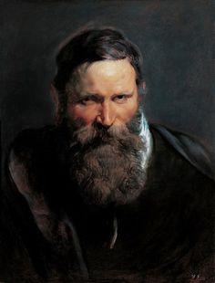 Peter Paul Rubens, Head Study of a Bearded Man, 1612 on ArtStack #peter-paul-rubens #art
