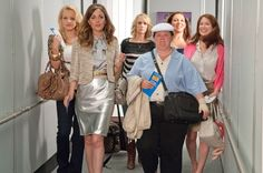 Wendi McLendon-Covey, Rose Byrne, Kristen Wiig, Melissa McCarthy, Maya Rudolph, and Ellie Kemper in 2011's Bridesmaids.