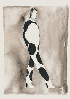 "decadediary:New Fashion Illustration,  looking at Celine Resort 2013  15 x 11.25 ""  Blog Post:Resort No.1«Illustration byDecade Diary"