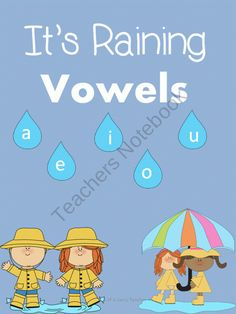 Its Raining Vowels from Atorr87 on TeachersNotebook.com (7 pages)  - Long vs Short vowel spring themed worksheets!!