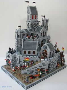 pack of 20 panels # WHITE walls police hospital castle LEGO bricks 1x2x3