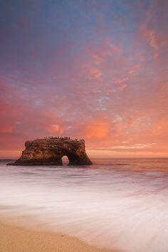"""Sunset at Natural Bridges State Park in Santa Cruz, California."" Photo by David Richter."