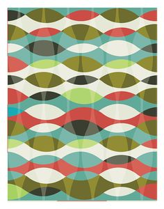 Abstract print poster mid century print poster by angelaferrara
