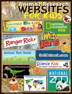 http://www.teacherspayteachers.com/Product/Animal-Research-Websites-for-Kids-1641256
