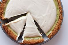 Avocado Pie.  Sweet and tastes sorta like cheesecake!