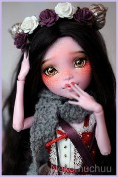 OOAK Custom Monster High doll ~Favole~ the sheep of the forest~ #188 Nekomuchuu Repaint Elissabat